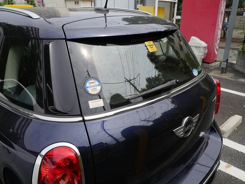 タイムズカーシェアプレミアムクラスで乗車できる「MINI CROSSOVER」のリア