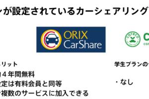 学生プランが設定されているカーシェアリングサービスとメリット一覧