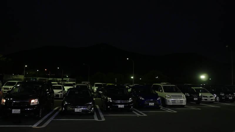 佐野サービスエリア(下り)の夜の風景