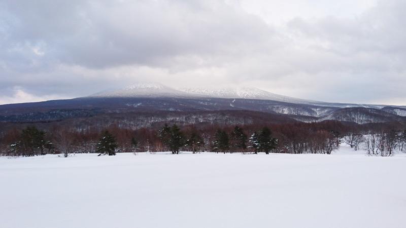 青森の雪山