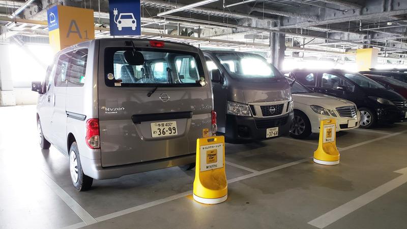 IKEA立川P2駐車場にあるタイムズカーシェアのステーション