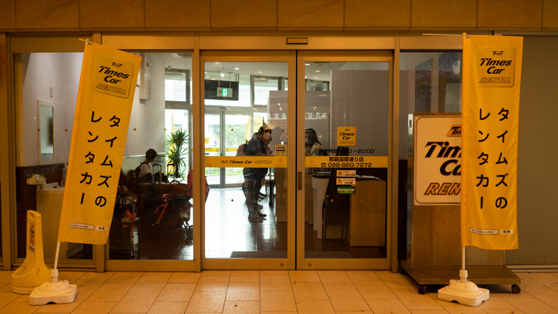 タイムズカーレンタル国際通り店の入り口