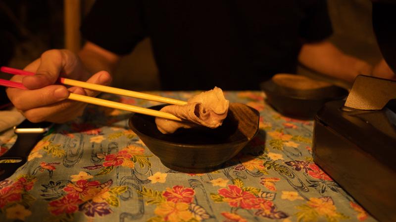 ちゃんや~(沖縄)のやんばる島豚あぐーしゃぶしゃぶセット