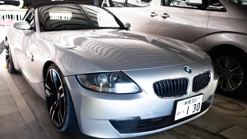 BMW 220i カブリオレのレンタカー(沖縄)