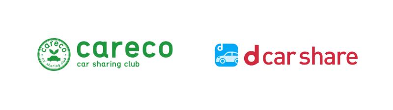カレコとdカーシェアのロゴ