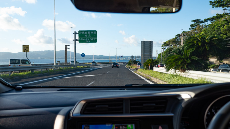 沖縄自動車道(車内からの写真)