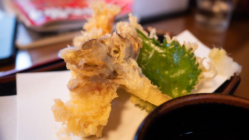 弘前市・そば処 清水の天ぷら