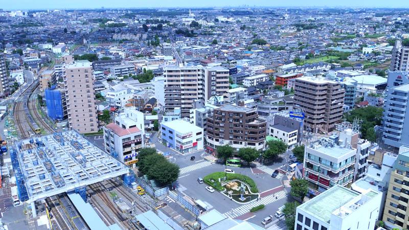 パークハウスワンズタワー20Fからの眺め(東村山市)