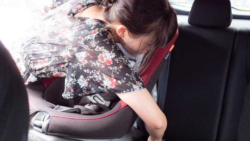 タイムズカーシェアにチャイルドシートは装備されていないので持参・取付を行う必要がある