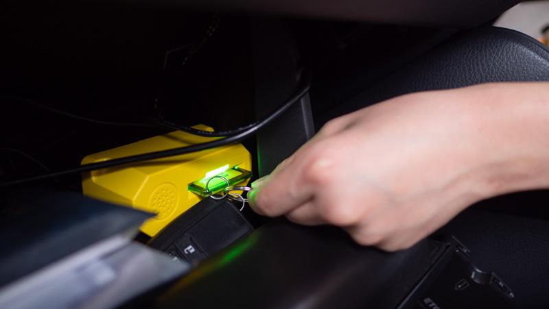 タイムズカーシェア利用開始時にキーを抜く